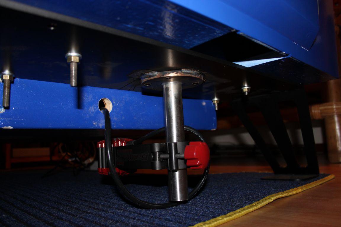 Il buttkikker sotto il sedile