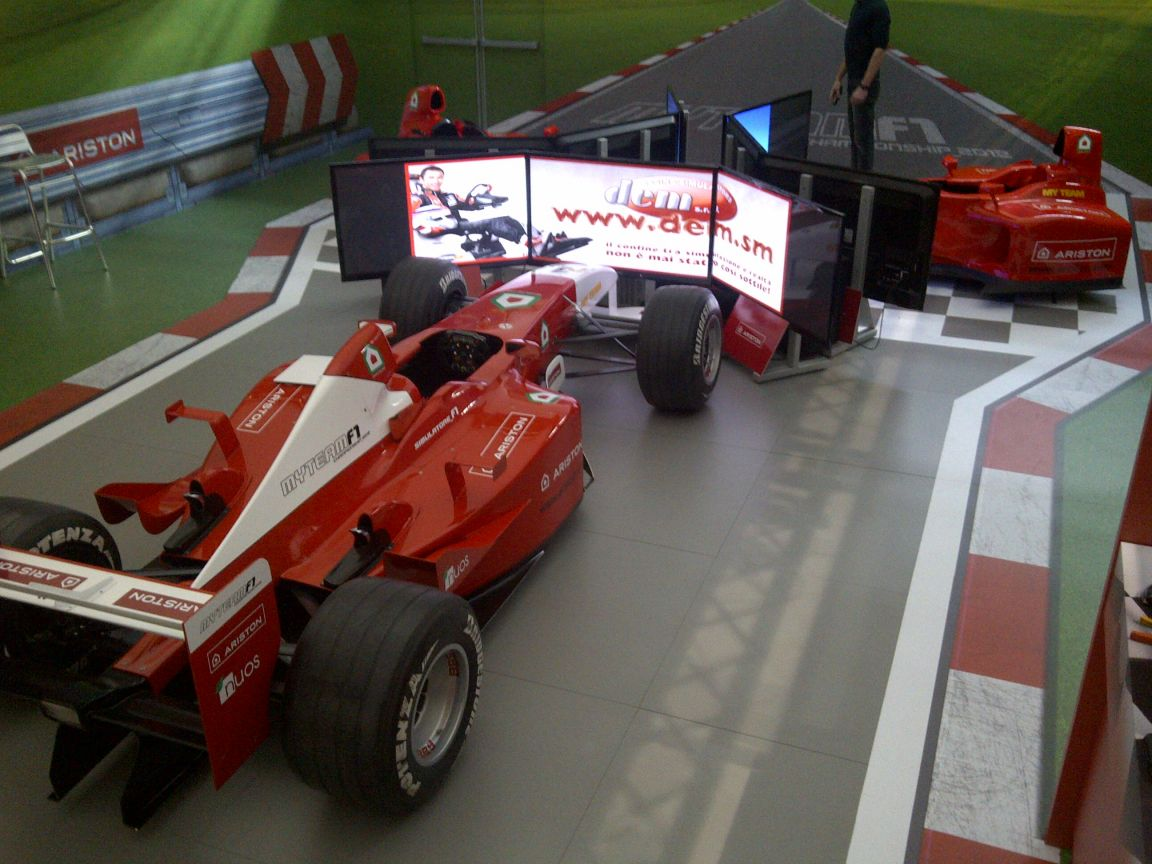 Evento Ariston marzo 2012 - DEM Racing Simulators