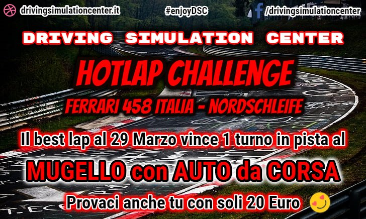 Driving Simulation Center Hotlap Challenge