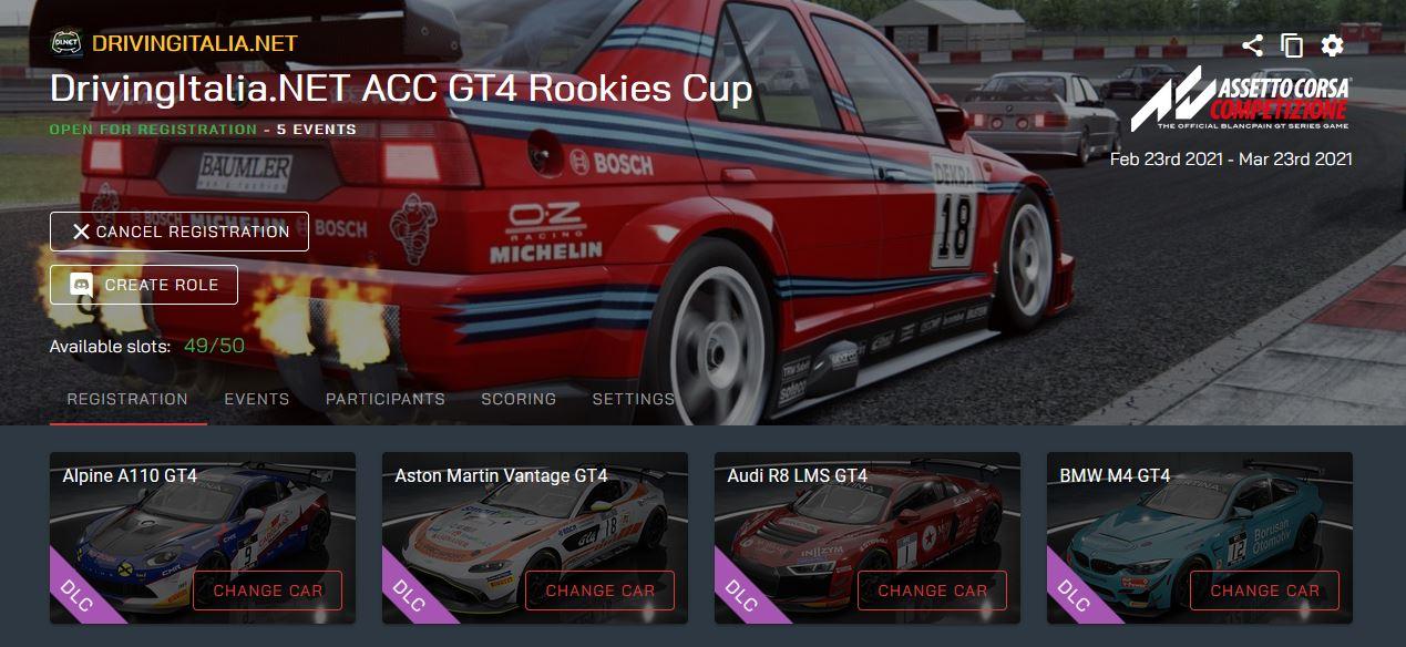 SimracingGP GT4 Rookies Cup